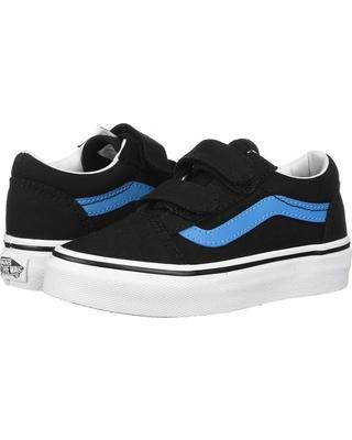 6926d0e288 vans kids old skool v black vivid blue